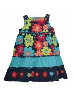 Rochie de vara copii, model floral, 2 - 4 ani