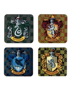 Set 4 x Suport pahare Harry Potter (Shields)