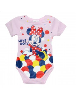 Body bebelusi, Minnie Mouse, roz cu buline