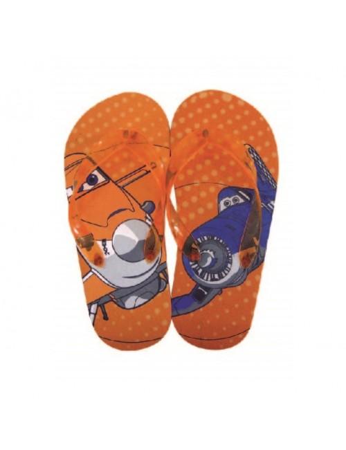 Papuci plaja copii, Disney Planes, 27-34, portocalii