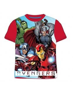 Tricou copii, Marvel Avengers, 4 - 9 ani, rosu