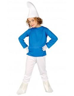 Costum Pitic albastru (Strumf), pentru copii 7/9 ani