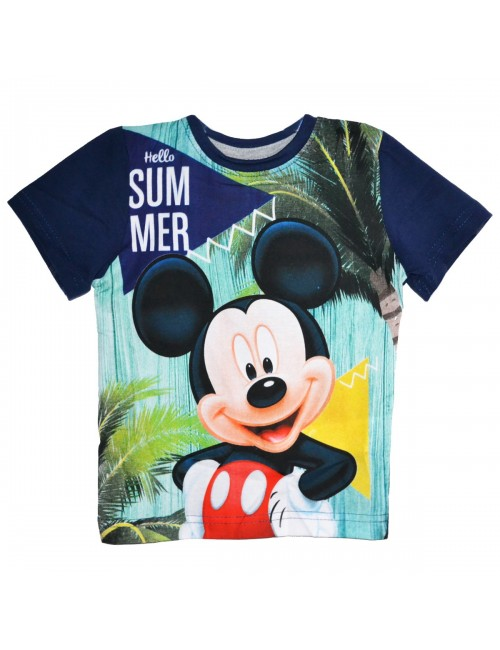 Tricou copii, Mickey Mouse Hello Summer, bleumarin
