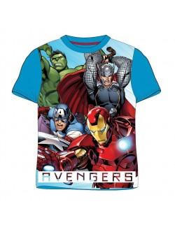 Tricou copii, Marvel Avengers, albastru