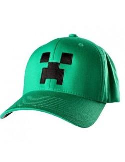 Sapca Minecraft Creeper, versde, 56 cm