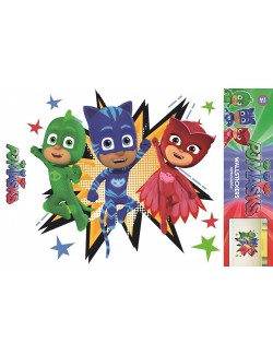 Sticker de perete PJ Masks, 54 x 47 cm, model 1
