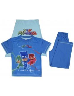 Set tricou, pantaloni 3/4 si mantie, PJ Masks, albastru, copii 2-6 ani