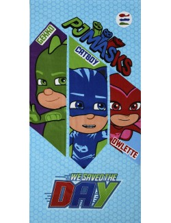 Prosop plaja PJ Masks We saved the day!, 70 x 140 cm