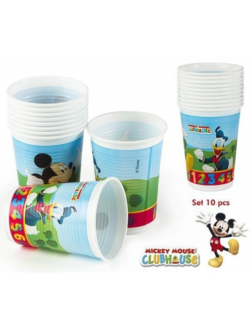 Set 10 pahare Mickey Mouse, 200 ml