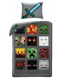 Lenjerie pat Minecraft -Diamond Sword, 140 x 200 cm