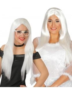 Peruca Fashion, par lung, alb