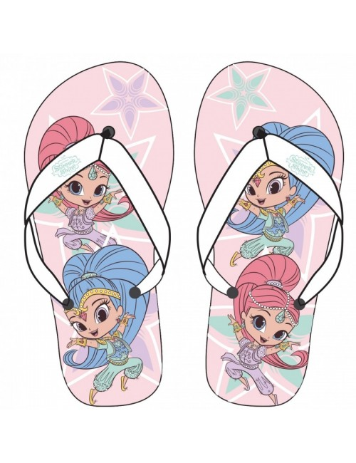 Papuci plaja Shimmer si Shine, roz, 24-31