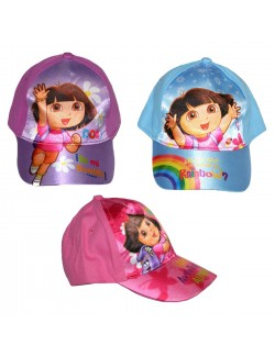 Sapca Dora Exploratoarea, mov, bleu sau fucsia, copii