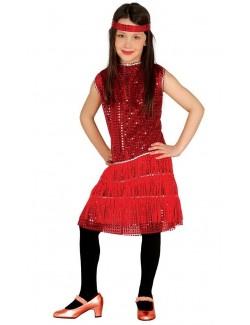 Costum retro: Rochie Charleston, copii 5-6 ani