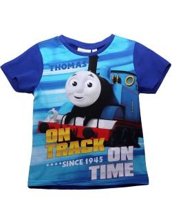 Tricou copii, Locomotiva Thomas, albastru, 2-5 ani