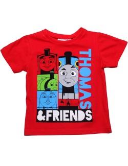 Tricou copii, Locomotiva Thomas, rosu