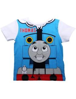 Tricou Locomotiva Thomas,copii 2-5 ani, alb