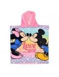Prosop poncho Minnie & Mickey Mouse, 50 x 100 cm