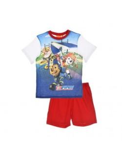 Pijama baieti, Patrula catelusilor,3-6 ani, alb-rosu