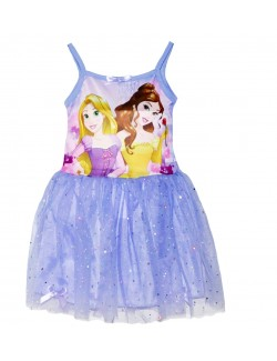 Rochie tutu, mov, Printesele Disney: Belle si Rapunzel, copii 3-6 ani