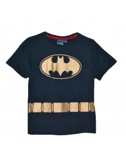 Tricou Batman copii, 3-8 ani, bleumarin-auriu