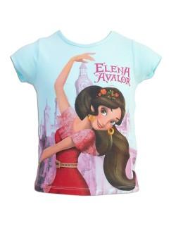 Tricou fete, Elena din Avalor, 3 - 6 ani, bleu