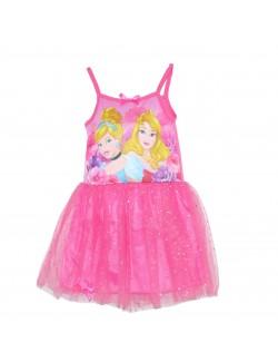 Rochie tutu, roz, Printese Disney: Aurora si Cenusareasa, copii 3-6 ani