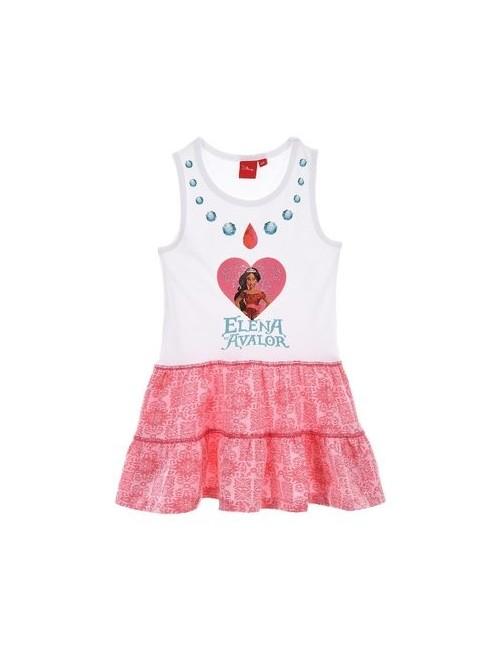 Rochie copii, Elena din Avalor, 3 - 6 ani, alb-roz