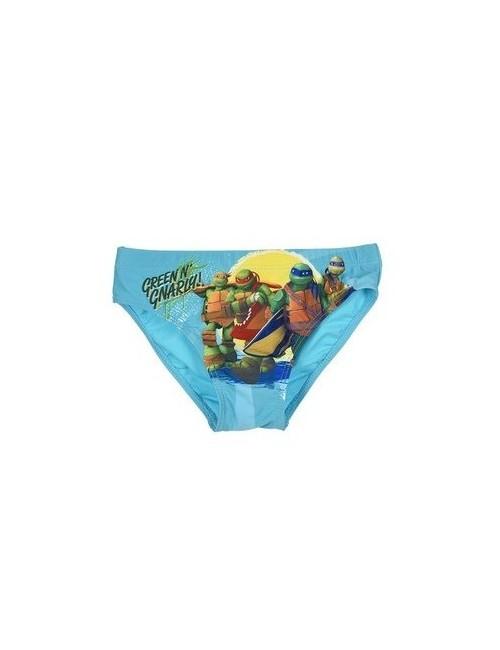 Slip baie Testoasele Ninja, albastru, 3-8  ani