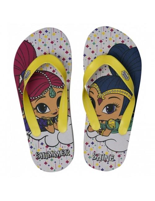 Papuci plaja copii, Shimmer si Shine, 24-31, alb