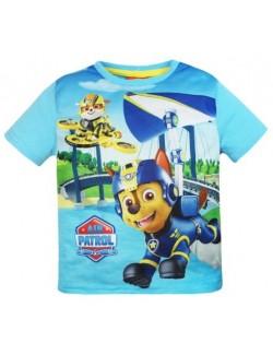 Tricou Patrula catelusilor - Chase & Rubble, bleu, copii 3-6 ani