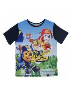 Tricou copii Patrula catelusilor, albastru, 3 - 6 ani