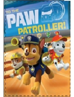 "Patura Patrula catelusilor, coral fleece ""To the Paw Patroller!, 90 x 120 cm"