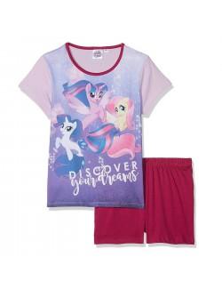 Pijama copii, My Little Pony, mov - rosu, 3 - 8 ani