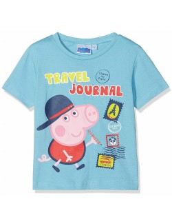 Tricou George Peppa Pig Travel, bleu, 3 - 8 ani