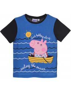 Tricou copii, George Sailor Peppa Pig, albastru, 3 - 8 ani