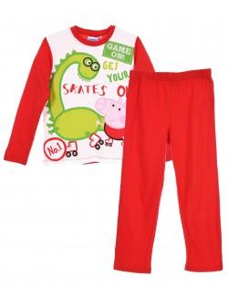 Pijama Peppa Pig - Dino, copii 3-6 ani, rosu