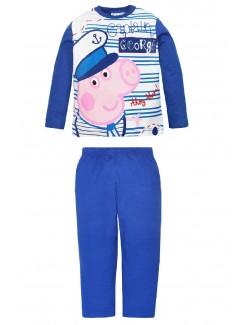 Pijama George Peppa Pig , copii 3-6 ani, albastru