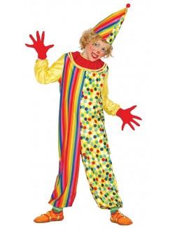 Costum Clown galben, copii 5-9 ani