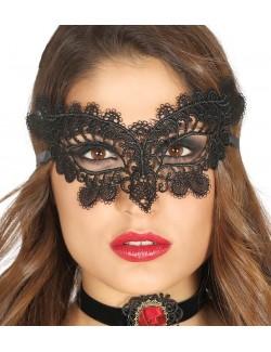 Masca neagra, brodata - accesoriu carnaval
