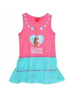 Rochie vara copii, Elena din Avalor, 3 - 6 ani, roz-bleu