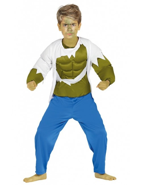 Costum Hulk - Green Strongman, copii 3-12 ani