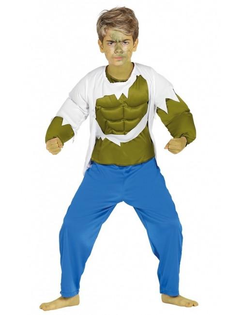 Costum Hulk - Green Strongman, copii 3-12 ani