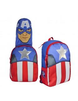 Ghiozdan Captain America, cu gluga, 35 x 29 x 11 cm