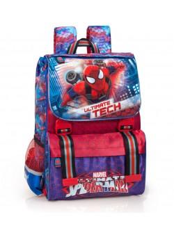 Ghiozdan ergonomic, extensibil, Spiderman, 40 x 8 x 13 cm