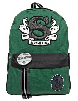 Ghiozdan Harry Potter Slytherin, cu insigna, 41x30x13 cm