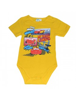 Body beblusi, maneca scurta, Disney Cars, galben