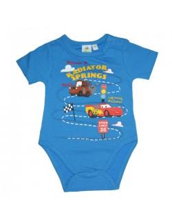 Body bebelusi, Disney Cars, maneca scurta, albastru