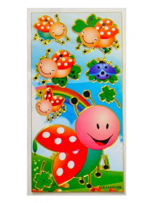 Abtibilduri / Stickere cu Gargarite vesele, 18 x 6,6 cm