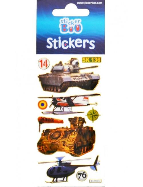 Abtibilduri / Stickere Masini militare, 18 x 6,6 cm